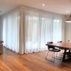 Wave Fold sheer curtains on Alfresco door corner