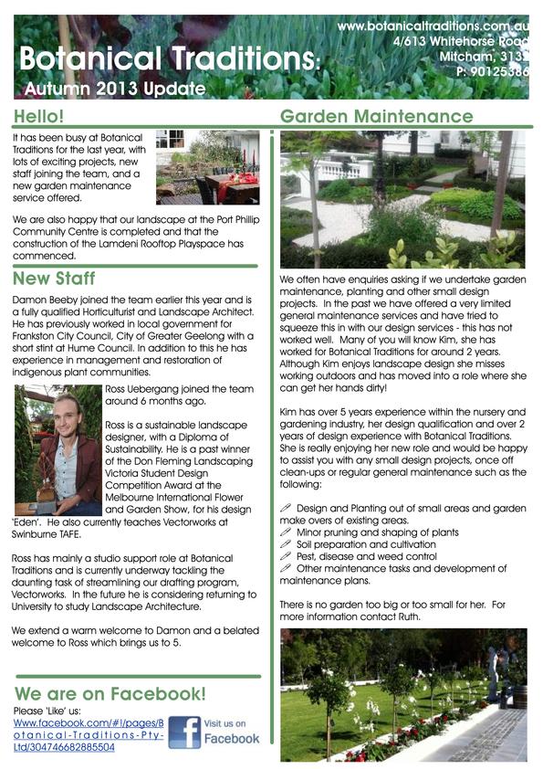 View Brochure: Newsletter Autumn 2013
