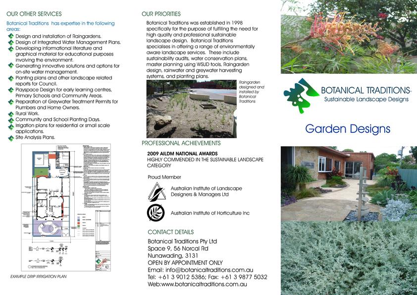 View Brochure: Residential Landscape Design