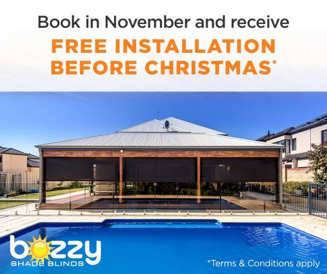 Read Article: Free Installation On All Outdoor Blinds Before Christmas!