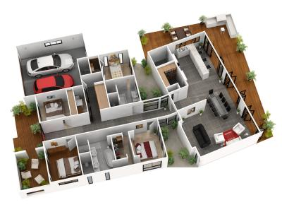 View Photo: 3D Floor plan for Autorealty & Dreamsmart Display Home - W