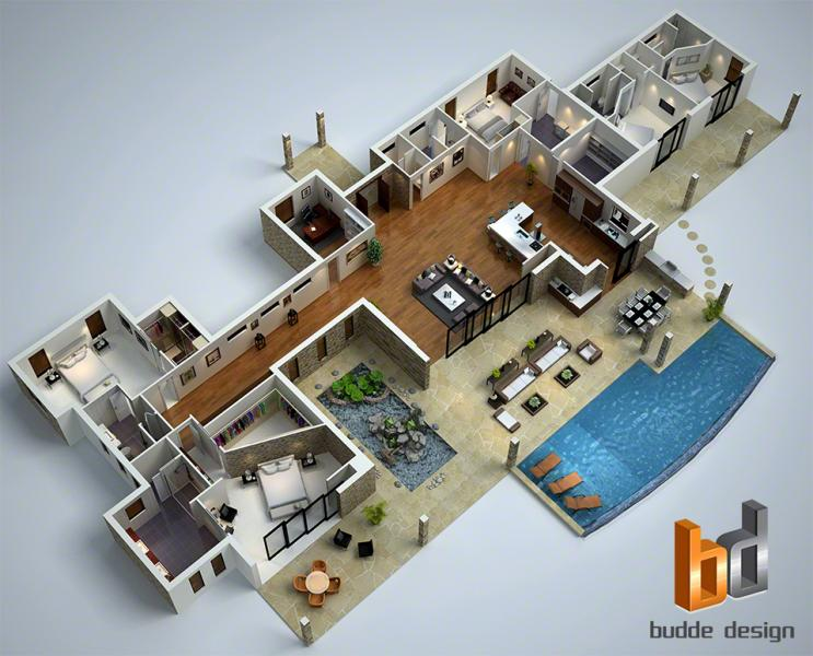 View Photo: 3D floor plan - Hawaii