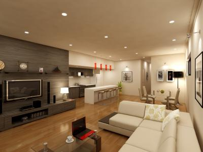 3D Living Render for Real Estate Marketing - Salamander Ba