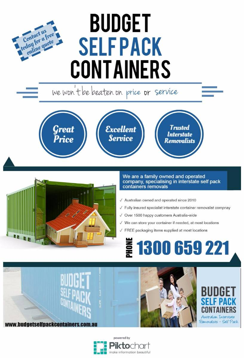 View Photo: Budget Self Pack Containers - Interstate Removalists