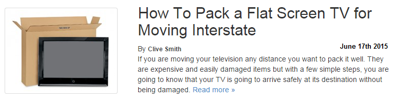 How to pack a flat screen TV to move interstate