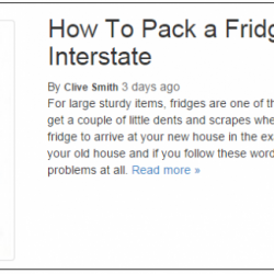 View Photo: How to pack a fridge to move interstate