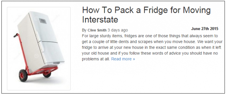 How to pack a fridge to move interstate