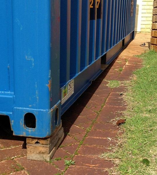 View Photo: Leveling a shipping container on your property