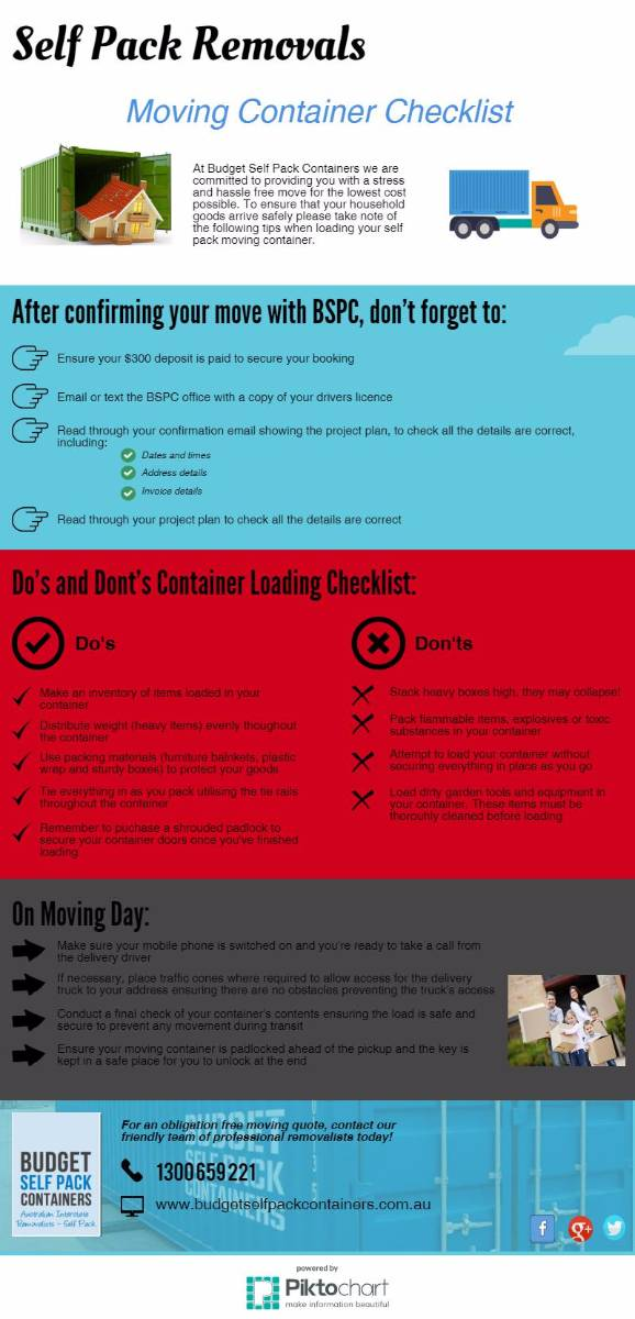 View Photo: Moving Container Checklist