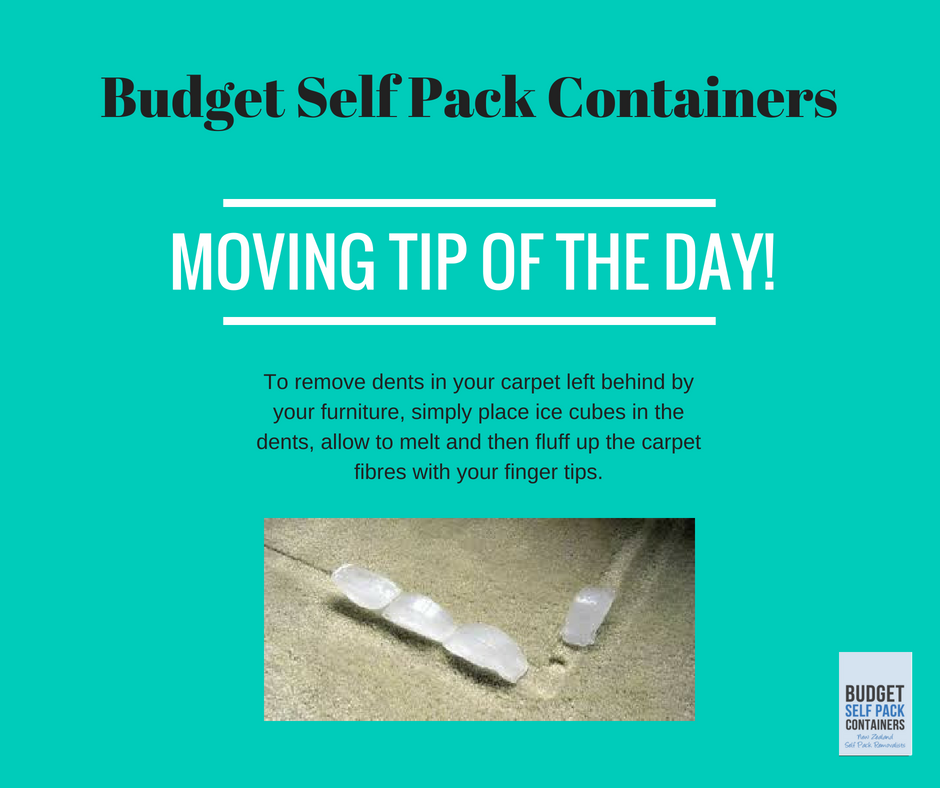 Remove dents from your carpet