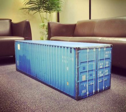 View Photo: Shipping Container Coffee Table (Yes, really!)
