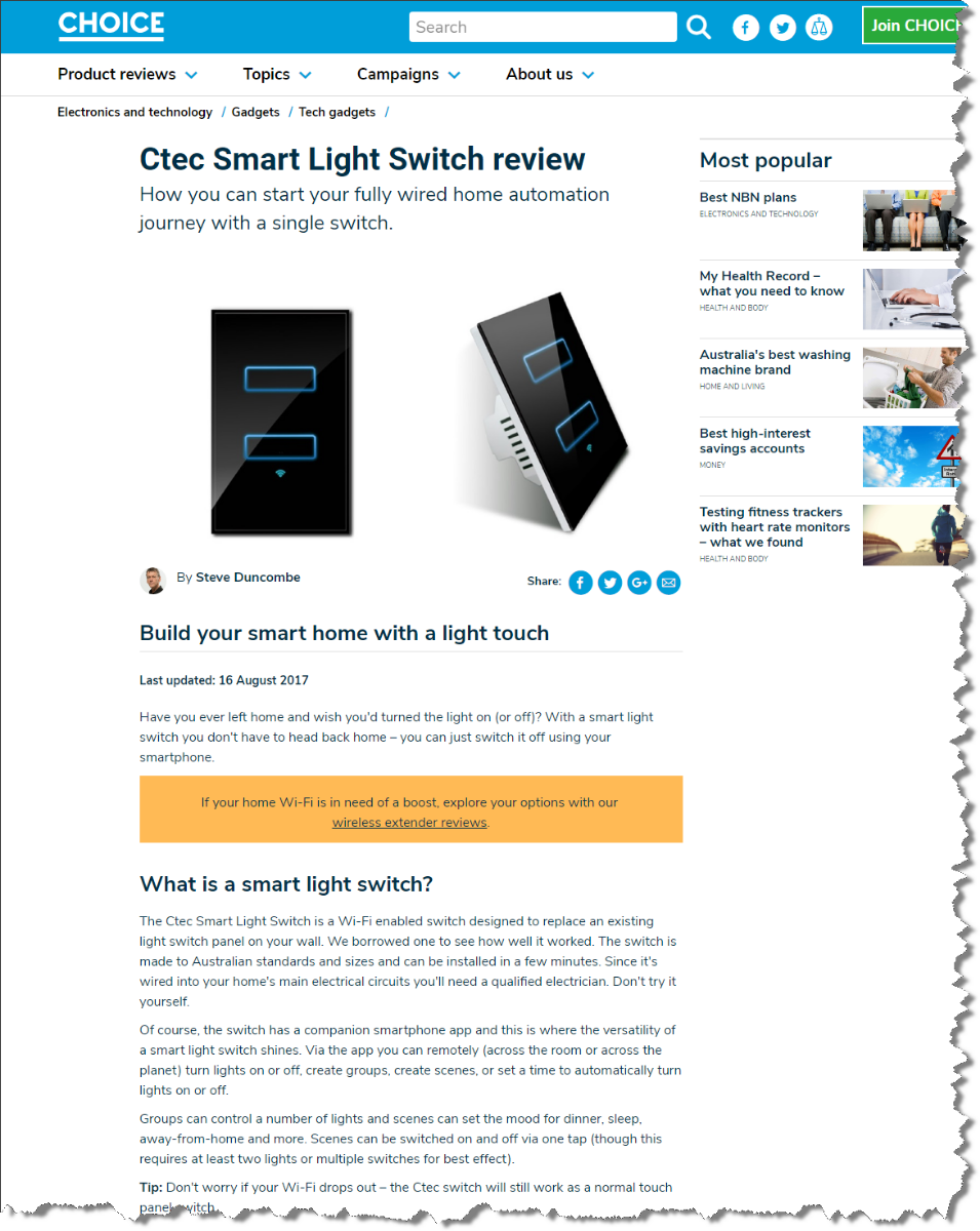 View Photo: Smart Light Swith