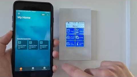 Watch Video : Ctec Smart Light Switch The Mirror Range - HomeKit Demonstration