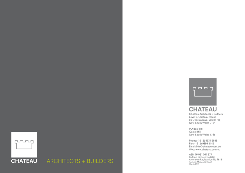 Browse Brochure: Chateau Company Profile
