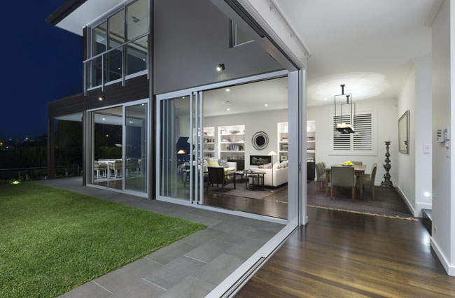 View Photo: Interior: Sliding doors of Mosman House