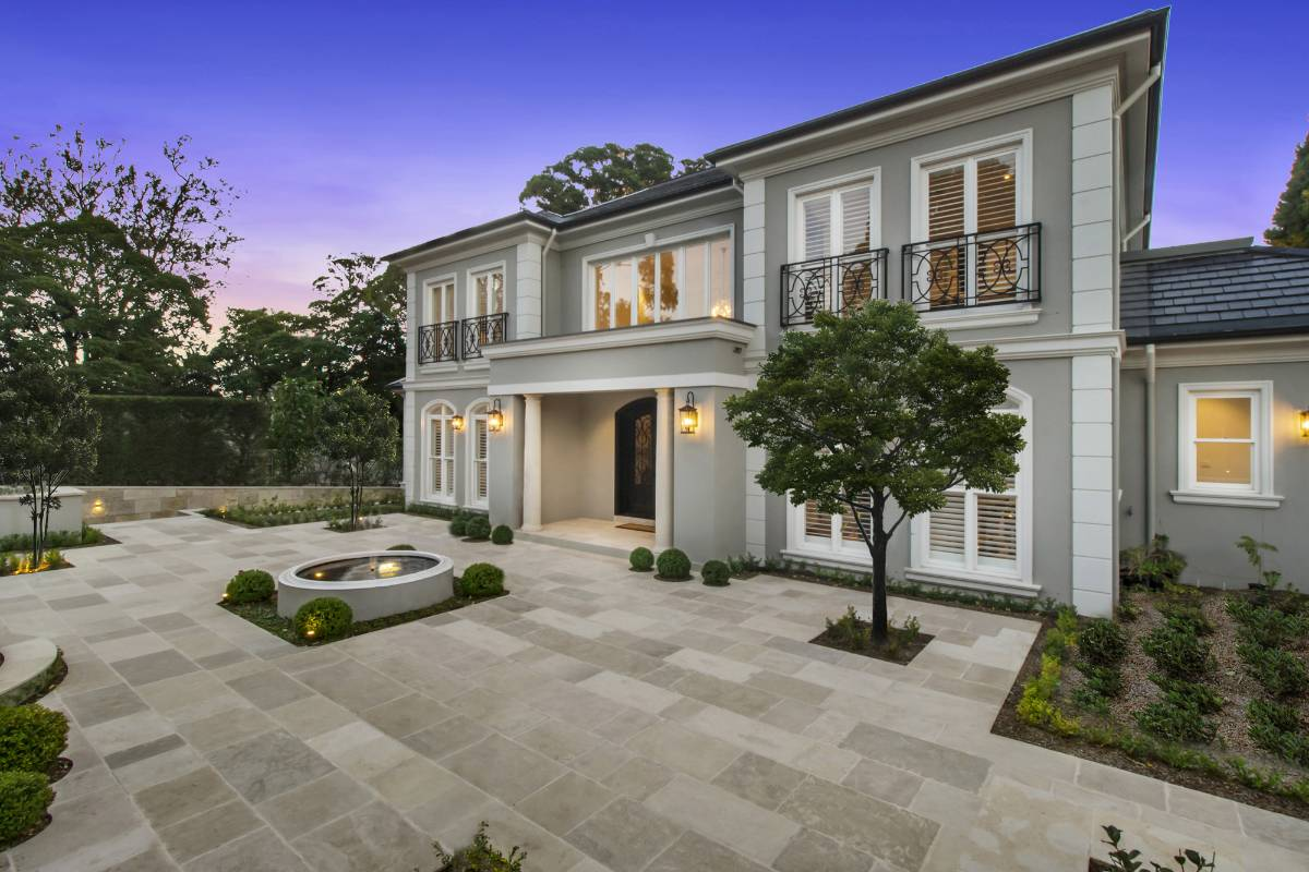 View Photo: Pymble House - Front Yard Paving