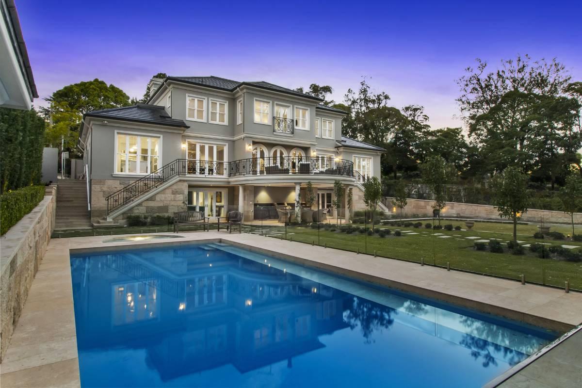 View Photo: Pymble House - Landscaped Backyard at Sundown