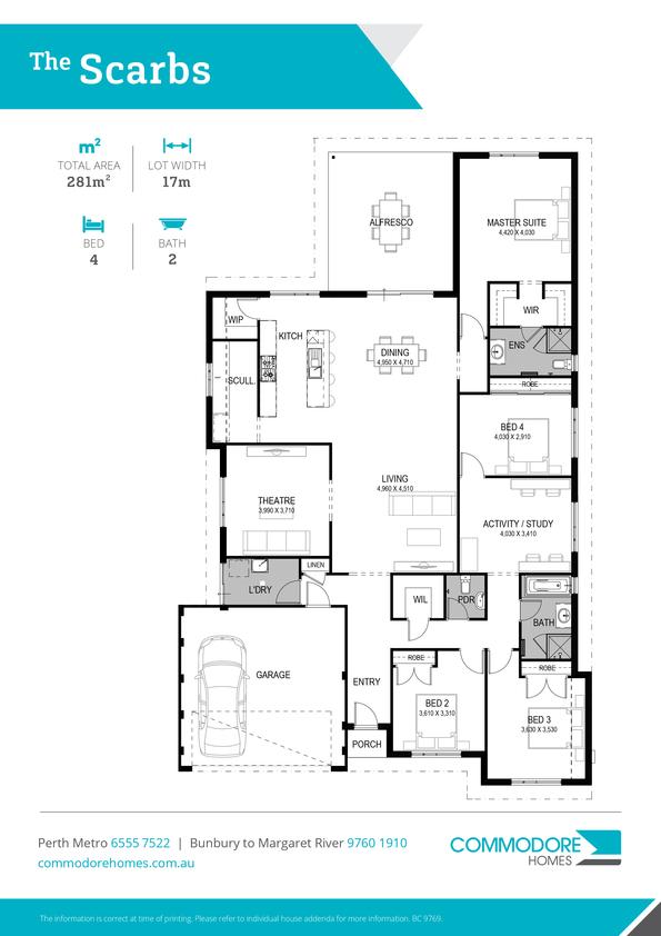 Browse Brochure: The Scarbs Home Design