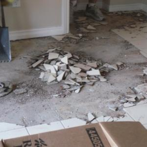 View Photo: Floor tile removal