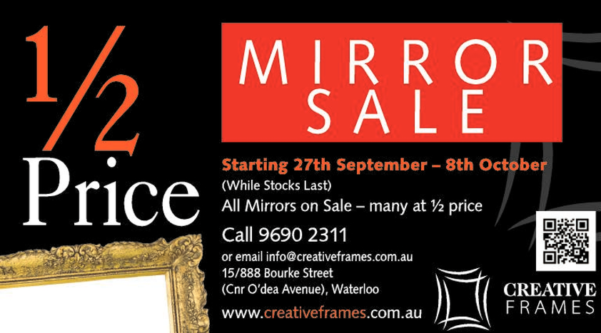 Browse Brochure: 1/2 Price MIRROR SALE!!
