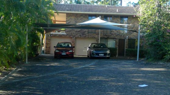 Double Carport Shade Sail