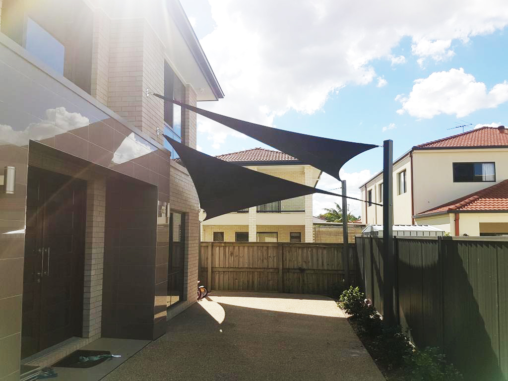 Double Shade Sail Over Side Passageway