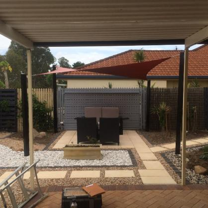 View Photo: Outdoor Sitting Area Shade Sail