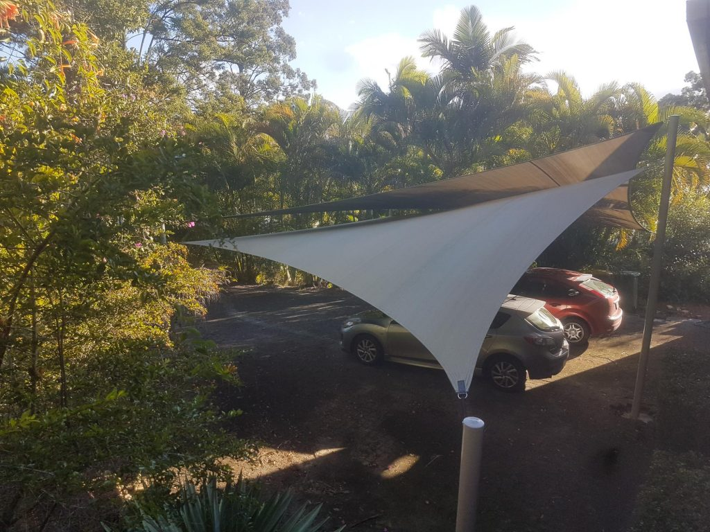 View Photo: Side View of Double Carport Shade