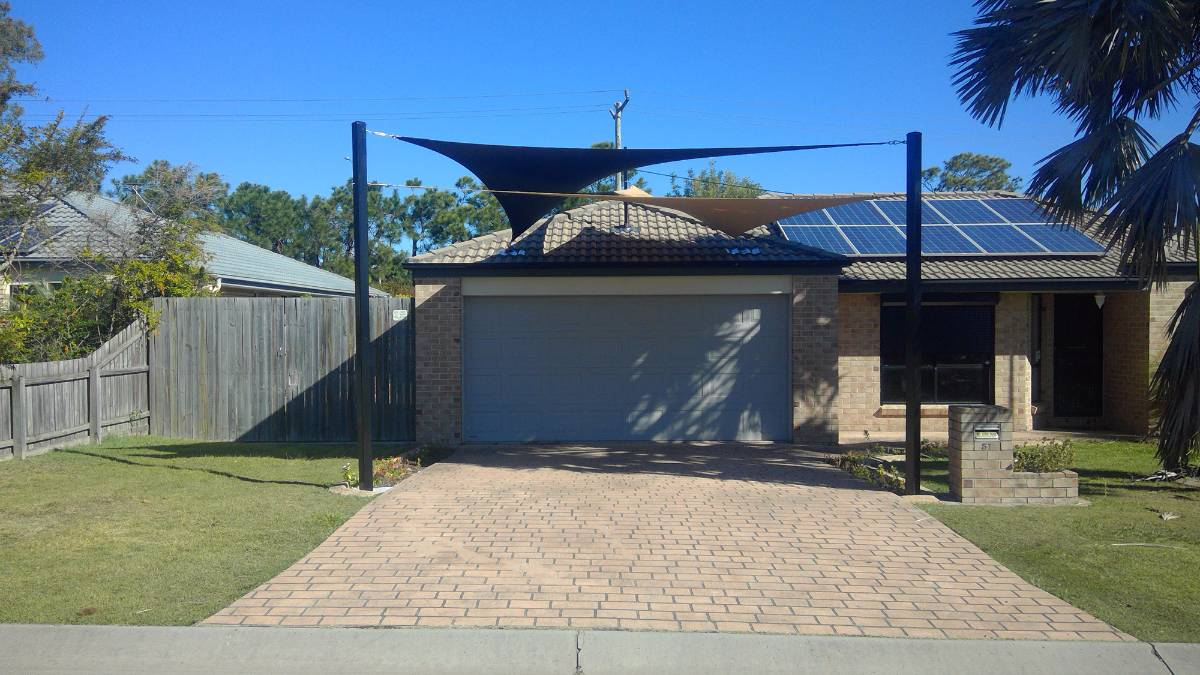 Small Double Carport Shade Sails