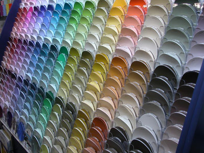 Paint Colour Charts and Chips