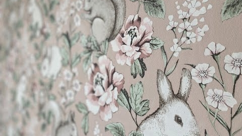 Watch Video: Children's Wallpaper. How To Transform a room in 3 days.