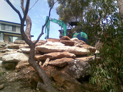 View Photo: Wall Construction and Landscaping