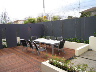View Photo: Balwyn Outdoor Decking Design and Feature Wall