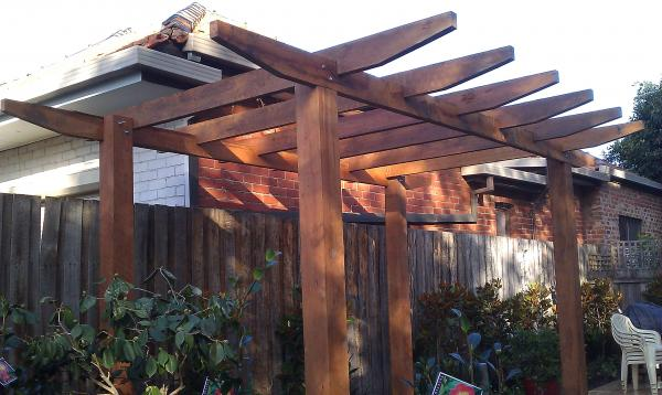 View Photo: Chunky pergola