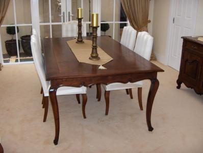 ... Dining Room Table French Provincial Part 39