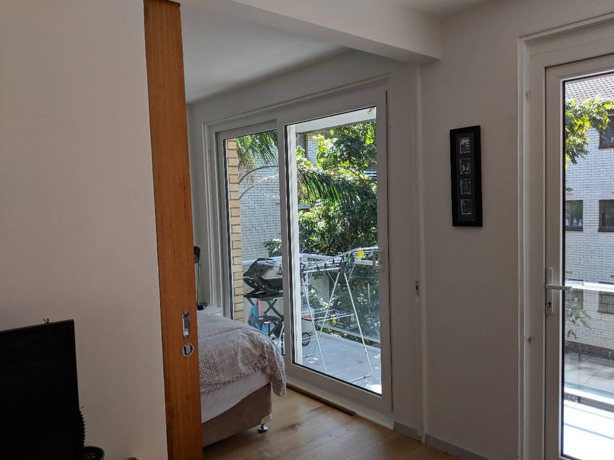 Bedroom sliding balcony door