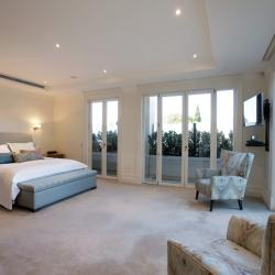 View Photo: Master Bedroom French Doors with fixed side panels