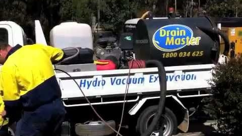 Watch Video: DrainMaster Hydro Vacuum Excavation