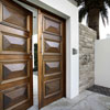 A hinged entry door to make a statement
