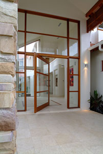 Pivot entry door to create a lasting first impression