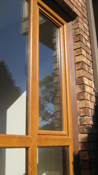 View Photo: Double glazed window with 'woodgrain' finish