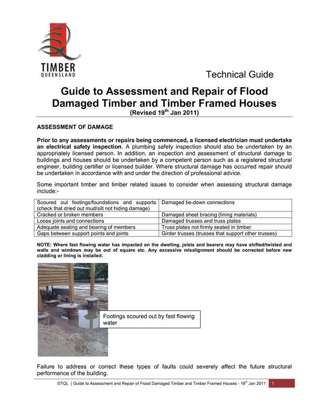 Browse Brochure: Flood damage
