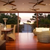Large deck offers a fantastic space to entertain
