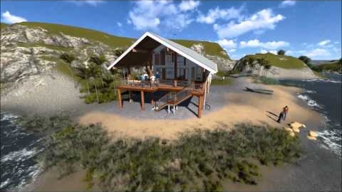 Watch Video: Beach House -- North Queensland. 3D Flyover