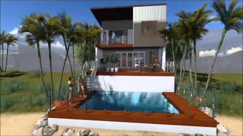 Watch Video: Modern House on Small Lot - Hope Island, Qld.