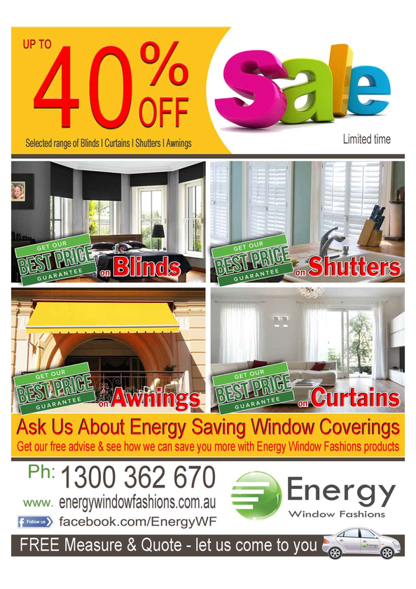 Energy Window Fashions : Curtains, Blinds & Awnings ...
