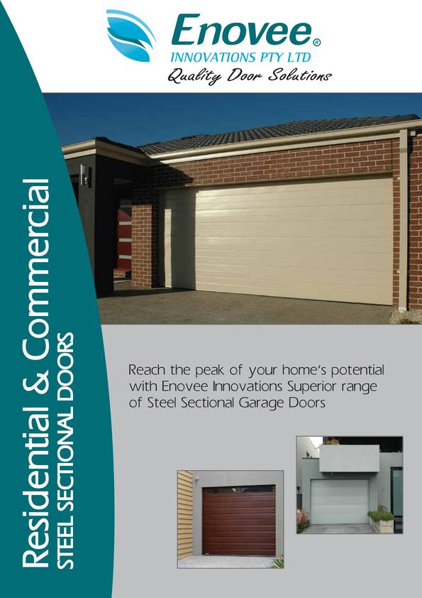 Browse Brochure: Enovee Sectional /Panelift Doors Brochure