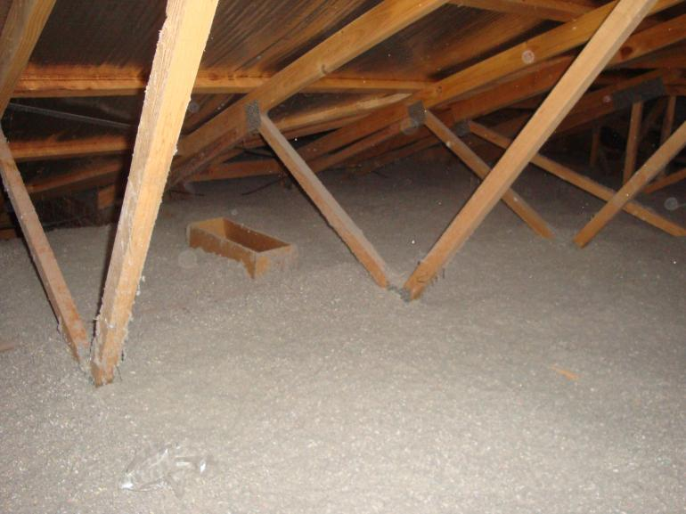 View Photo: Blown in Cellulose in Ceiling Cavity