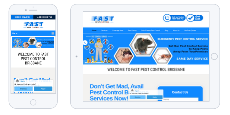 Read Article: Fast Pest Control Has Updated Its Website With New Interface