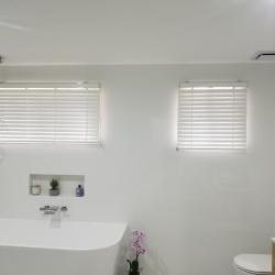View Photo: Bathroom - White Timber Venetian Blinds